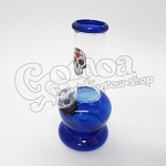 Glass Bong mexican skull design multicolor 15 cm