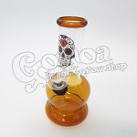 Glass Bong mexican skull design multicolor 15 cm 2