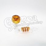 Colorful twisted glass pipe 13,5 cm
