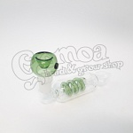 Colorful twisted glass pipe 13,5 cm 5