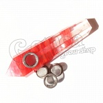 Blue & Red Smelting Quartz Pipe 3