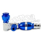 Blue Tobacco Pipe for Herb Smoking 9 cm 3