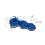 Blue Glass Pipe 10 cm 2