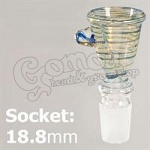 Chillum Coloured Glass Bowl socket: 18,8 mm 2