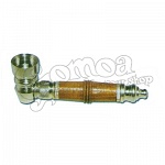 Metal pipe with wooden inlay 8cm 3