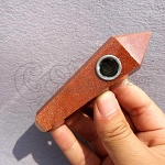 Red Gold Sand Quartz Pipe