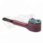 Colorful wooden pipe with lid 10 cm