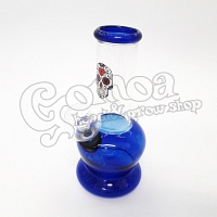 Glass Bong mexican skull design multicolor 13 cm