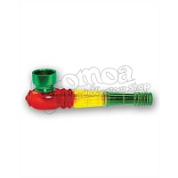Acrylic Rasta Stripes Pipe 10 cm