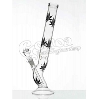 Multi leaf black bong glass 42 cm