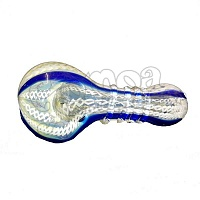 Blue-White Glass Pipe