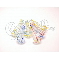 Colorful Thin Glass Popcorn Pipe