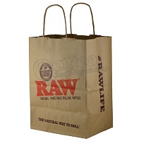 Raw big paper bag for purchases above 10.000 HUF