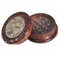Rosewood Grinder with Stone Inlay and OM design 40 mm