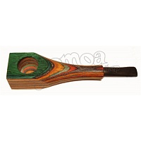 Colorful wooden pipe 10 cm