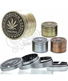 Dope Bros Amsterdam 4 Part Grinder in 3 Metal Color