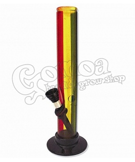 Bong akril Rasta Stripes 20 cm