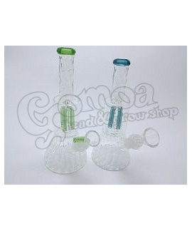 Glass Percolator Bong 21 cm Various Colors