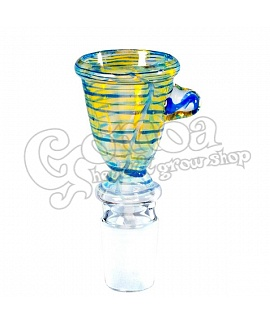Chillum Coloured Glass Bowl socket: 18,8 mm