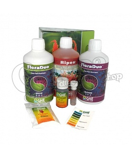 GHE Tripack FloraDuo + Ripen Hardwater