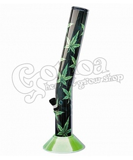 Green acrylic bong Multi leaf 42cm