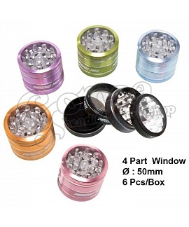Magno Mix Candy Color CNC Grinder 4 parts with windw 5 cm
