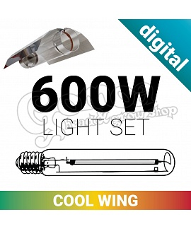 Grow light set 600W with Cool Wing and Digital ballast
