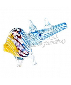 Rhino Shape Glass Pipe