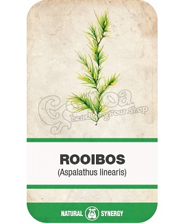 Rooibos (Aspalathus linearis) tea leaves
