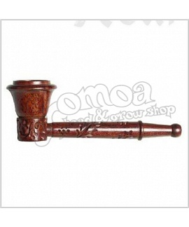 Rosewood Pipe Carved 9 cm