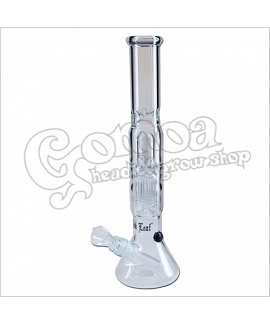 Glass Percolator Bong With Ice Holder 38 cm