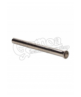 Slim Metal Sniffer Tube in Silver or Gold Colour