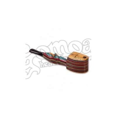 Colorful wooden pipe with lid 11,5 cm 3