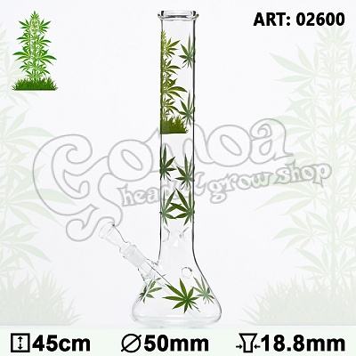"Bong Glass ""Leaf Jhari\"" 45 cm 2"