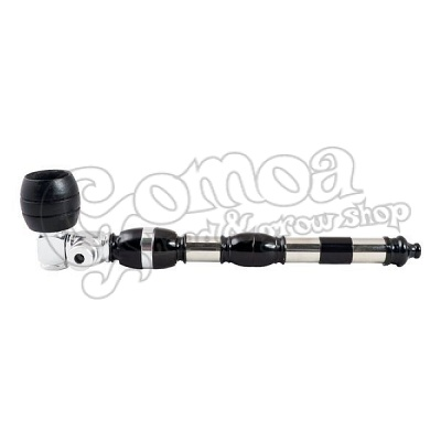 Black Tobacco Pipe with Big Herb Bowl 17 cm 2