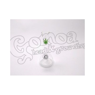Bong glass with leaf pattern 15 cm
