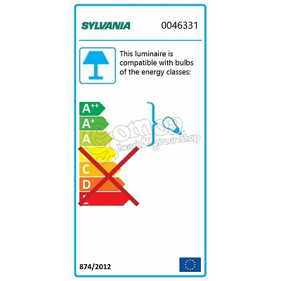 Sylvania Sylfast SSE-T8 Fluorescent Lamp Fitting 2x36W 3