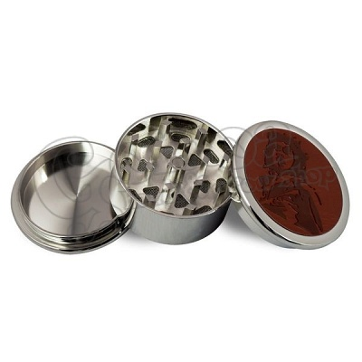 Metal Grinder with Leather 3 parts 46mm 2