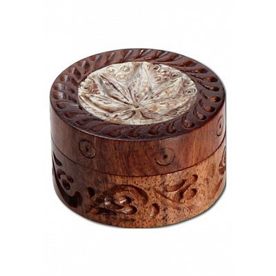 Rosewood Grinder with Stone Inlay 35 mm