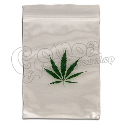 Ziplock bag clear leaf patterned 55x65 mm 100pcs