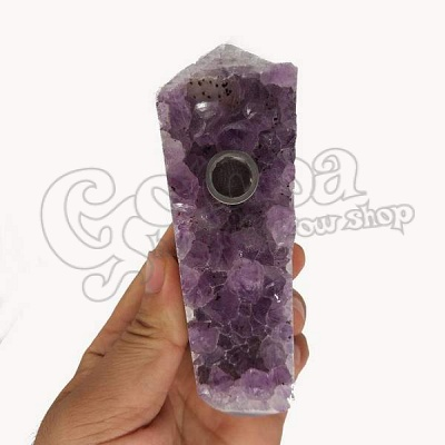 Natural Amethyst Chrystal Smoking Pipe 4