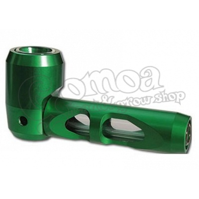Green Metal Pipe with Glass Inner Part 10 cm